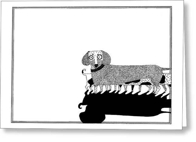 Puppies Greeting Card by Anastassia Neislotova