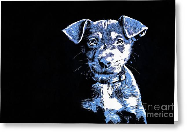 Puppy Dog Graphic Novel  Greeting Card by Edward Fielding