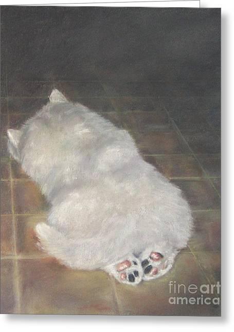 Puppy Feet Greeting Card by Elizabeth Ellis