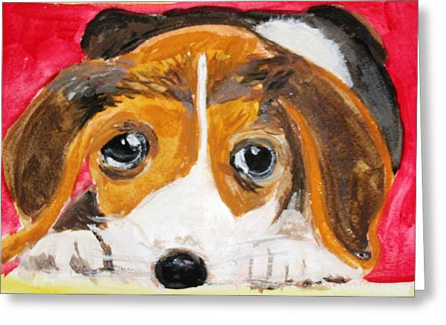 Puppy For Love Greeting Card