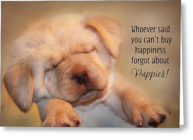 Puppy Happiness Greeting Card