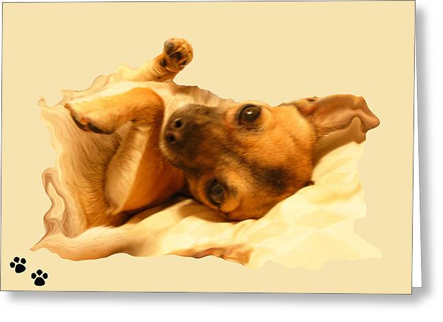 Puppy Love Greeting Card by Amanda Vouglas