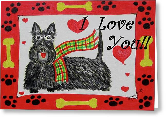 Puppy Love Greeting Card by Diane Pape