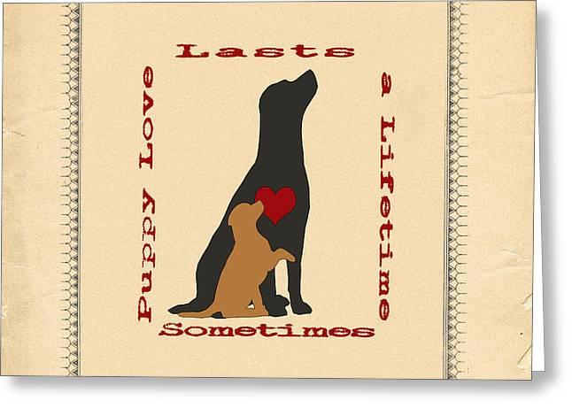 Puppy Love Labrador Retriever Greeting Card