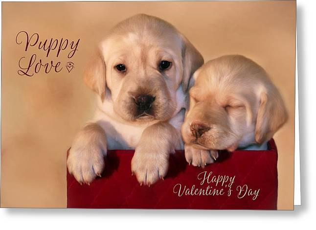 Puppy Love Greeting Card by Lori Deiter