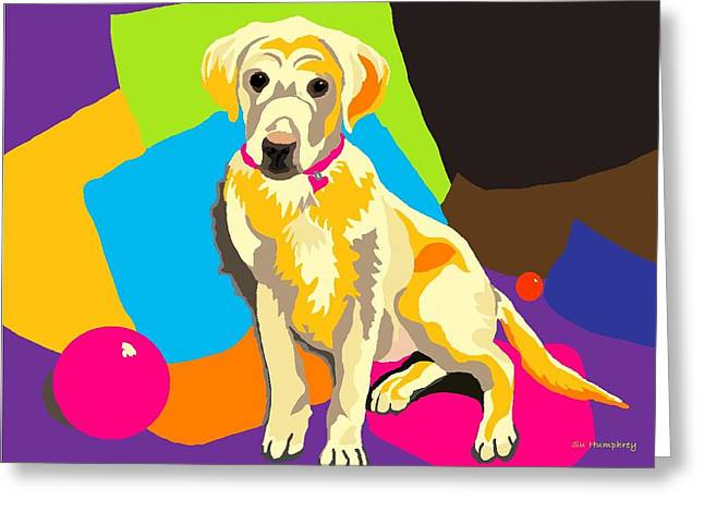 Puppy Princess And The Pillows Greeting Card by Su Humphrey