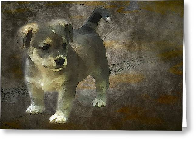 Puppy Greeting Card by Svetlana Sewell