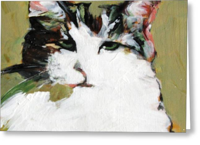 Pur-fect Pose Greeting Card by Michelle Winnie