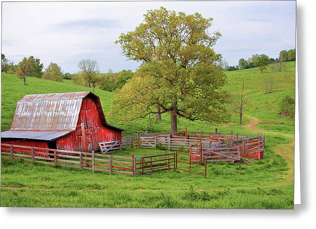 Pure Arkansas - Red Barn Greeting Card