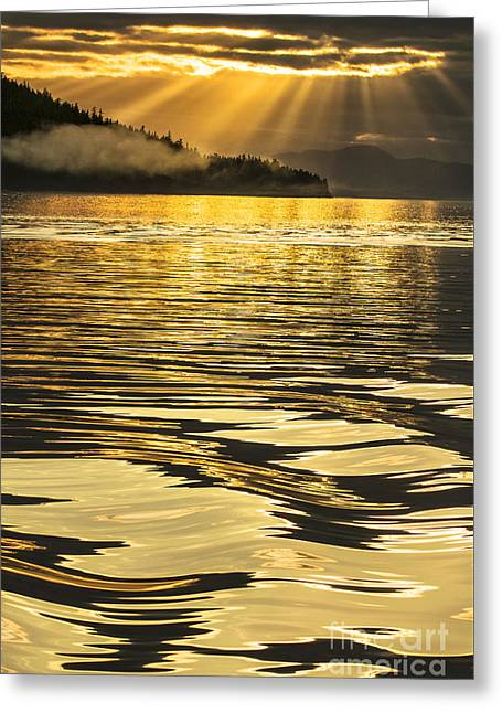 Pure Gold Greeting Card by Alice Cahill