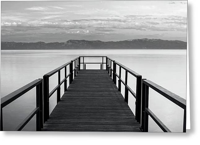 Greeting Card featuring the photograph Pure State Of Mind Lake Tahoe Pier by Brad Scott