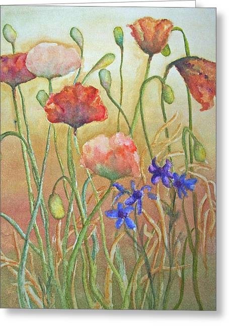Purely Poppies Greeting Card