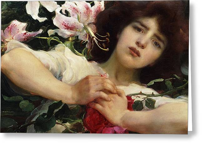 Purity And Passion Greeting Card by Franz Dvorak