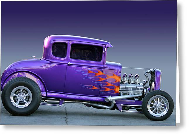 Greeting Card featuring the photograph Purp Ride by Bill Dutting