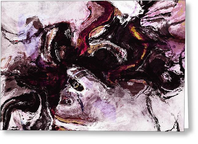 Purple Abstract Painting / Surrealist Art Greeting Card