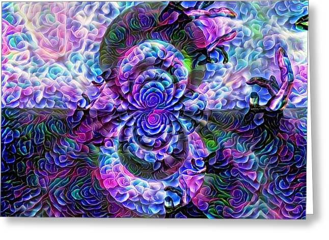 Purple Abstraction Greeting Card