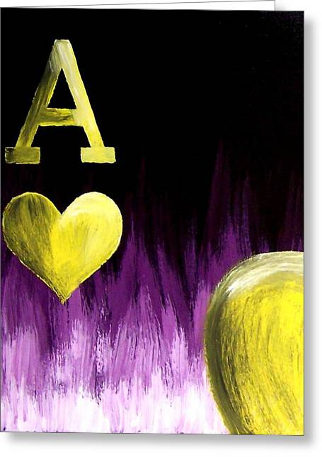 Purple Aces Poker Art3of4 Greeting Card