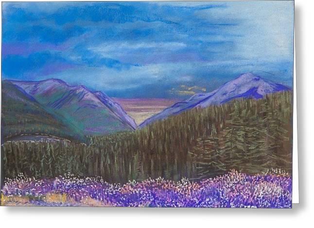 Purple Alaska Greeting Card