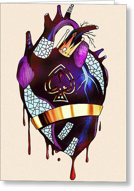 Royal Heart  Greeting Card by Kenal Louis