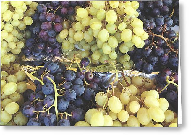 Purple And Green Grapes Greeting Card by Ivy Ho