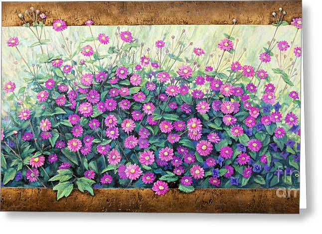 Purple And Pink Flowers Greeting Card