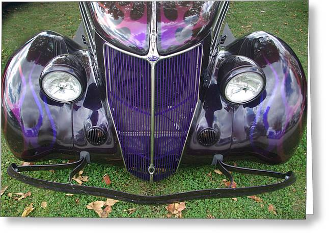 Purple Antique Ford Greeting Card