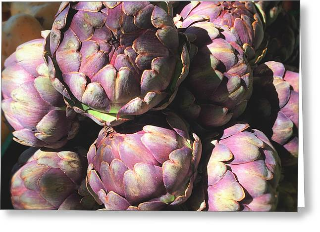 Purple Artichoke Photograph Greeting Card by Ivy Ho