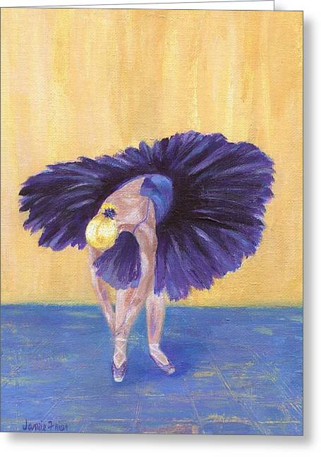 Greeting Card featuring the painting Purple Ballerina by Jamie Frier
