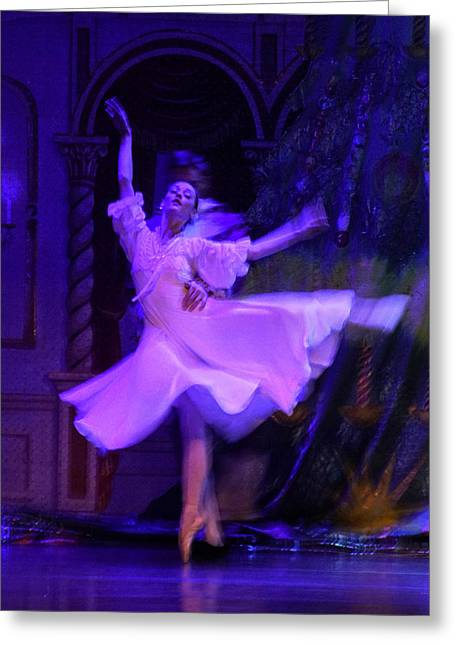 Purple Ballet Dancer Greeting Card
