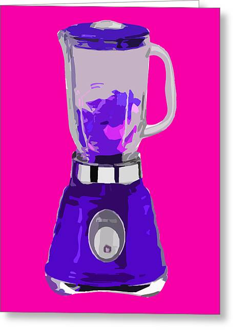 Purple Blender Greeting Card by Peter Oconor