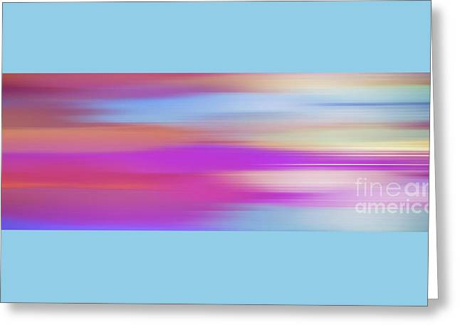 Greeting Card featuring the digital art Purple Bliss Sunrise Panorama By Kaye Menner by Kaye Menner