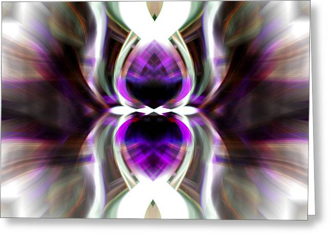 Greeting Card featuring the photograph Purple Butterfly by Cherie Duran