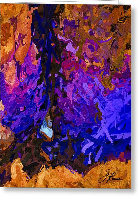 Greeting Card featuring the painting Purple Cave by Joan Reese