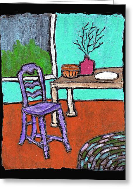 Purple Chair Greeting Card by Wayne Potrafka