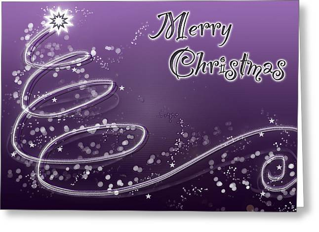 Purple Christmas Card Greeting Card by Lisa Knechtel