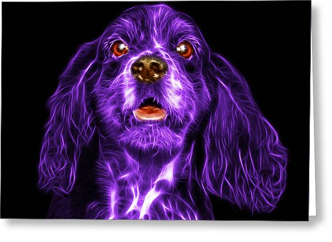 Purple Cocker Spaniel Pop Art - 8249 - Bb Greeting Card