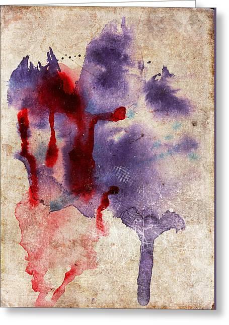 Purple Color Splash Greeting Card