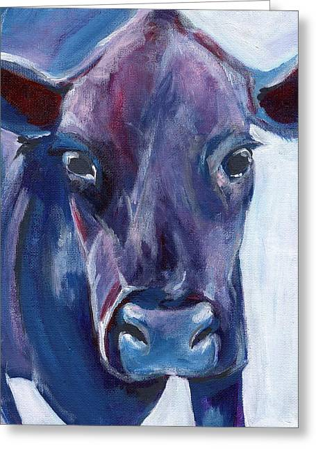 Purple Cow Greeting Card by Anne Seay