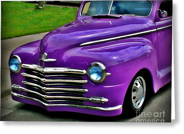 Purple Cruise Greeting Card by Perry Webster
