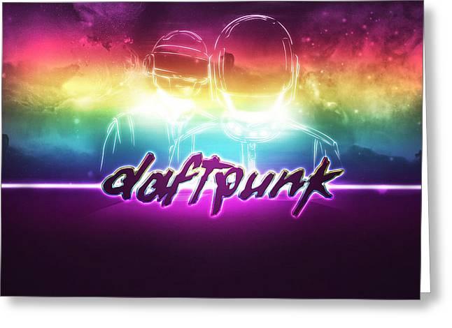 Purple Daft Punk - 34 Greeting Card by Jovemini ART