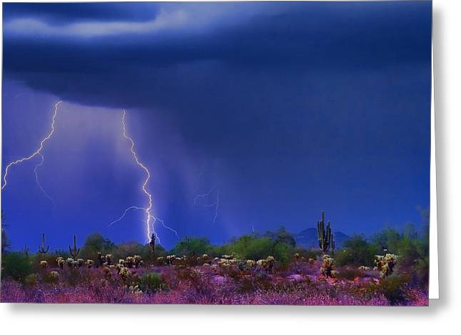Purple Desert Storm Greeting Card by James BO  Insogna