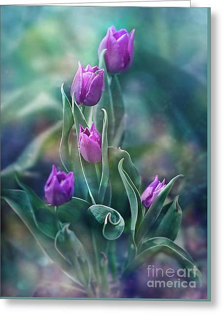 Purple Dignity Greeting Card