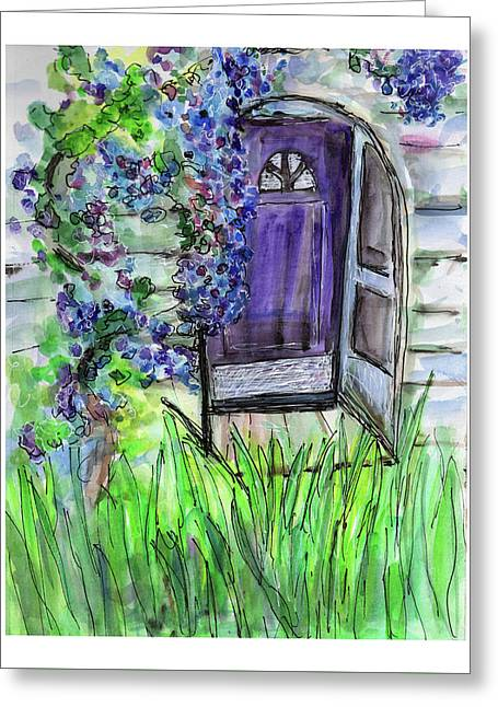 Purple Doorway Greeting Card