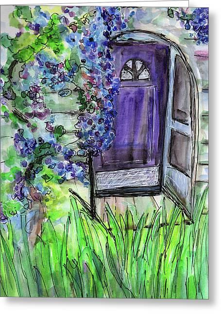 Purple Doorway Greeting Card