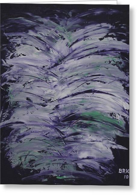 Purple Dream Greeting Card by Bo Klinge