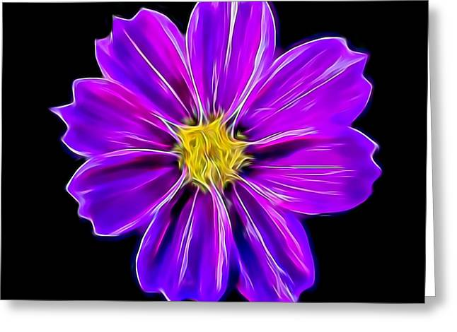 Purple Electric Greeting Card