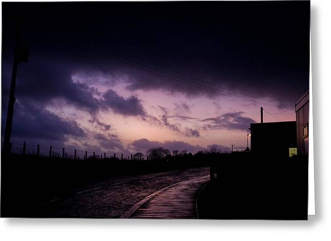 Purple Evening Greeting Card