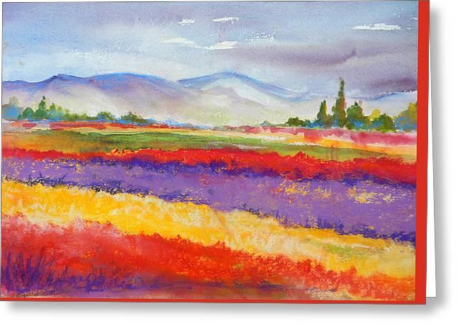 Purple Fields Greeting Card
