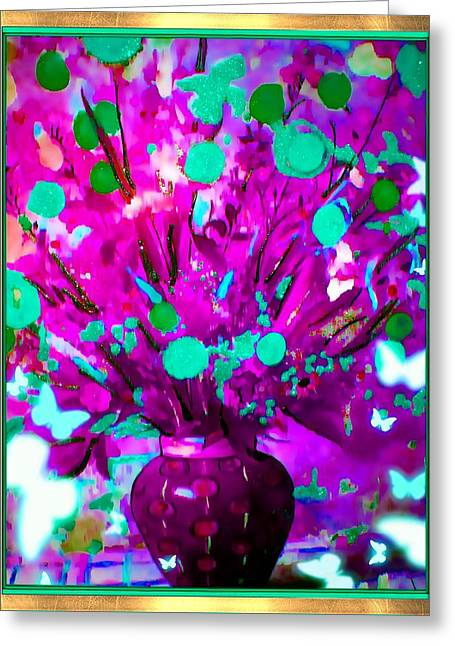 Purple Floral Greeting Card by HollyWood Creation By linda zanini