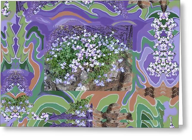 Purple Flower Textured Photo 1028d Greeting Card